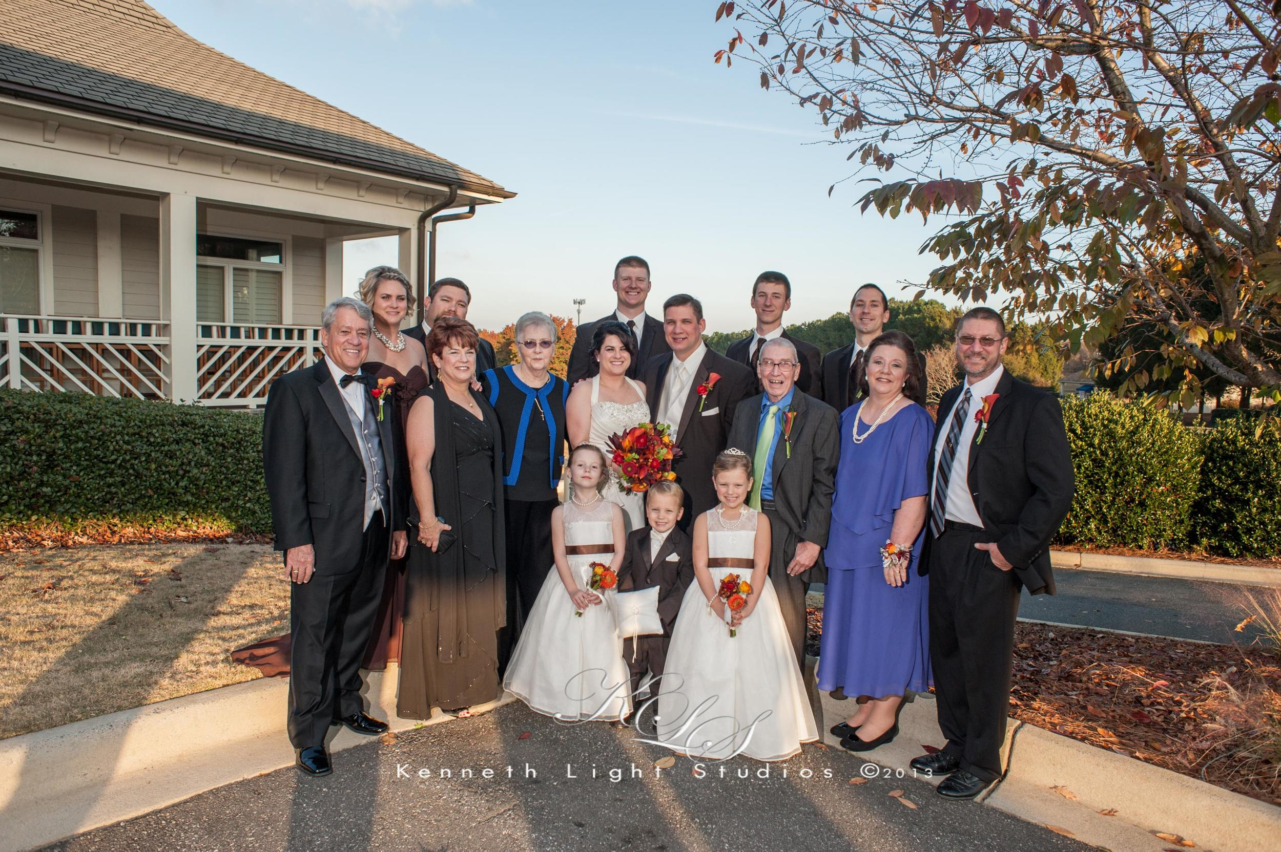 Family Portraits at Katie & Troy's Wedding