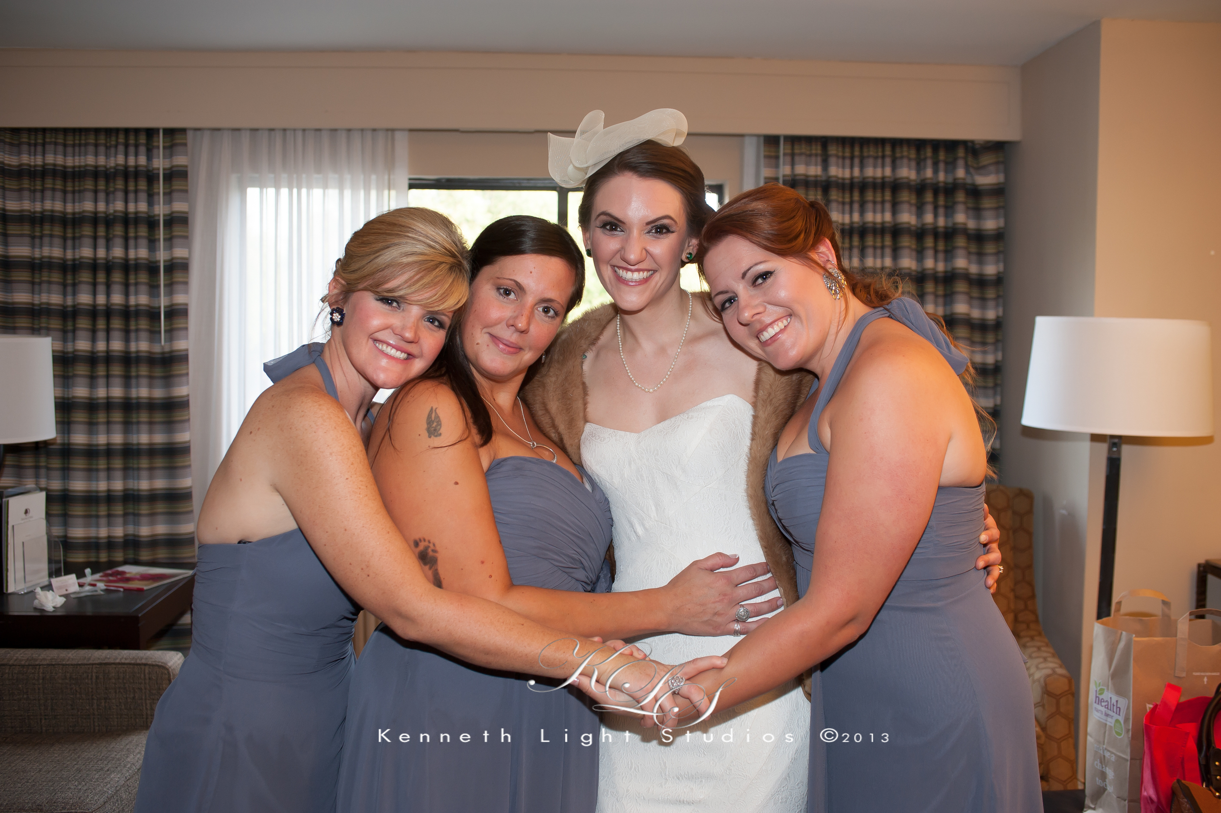 Friends come together at a Wedding