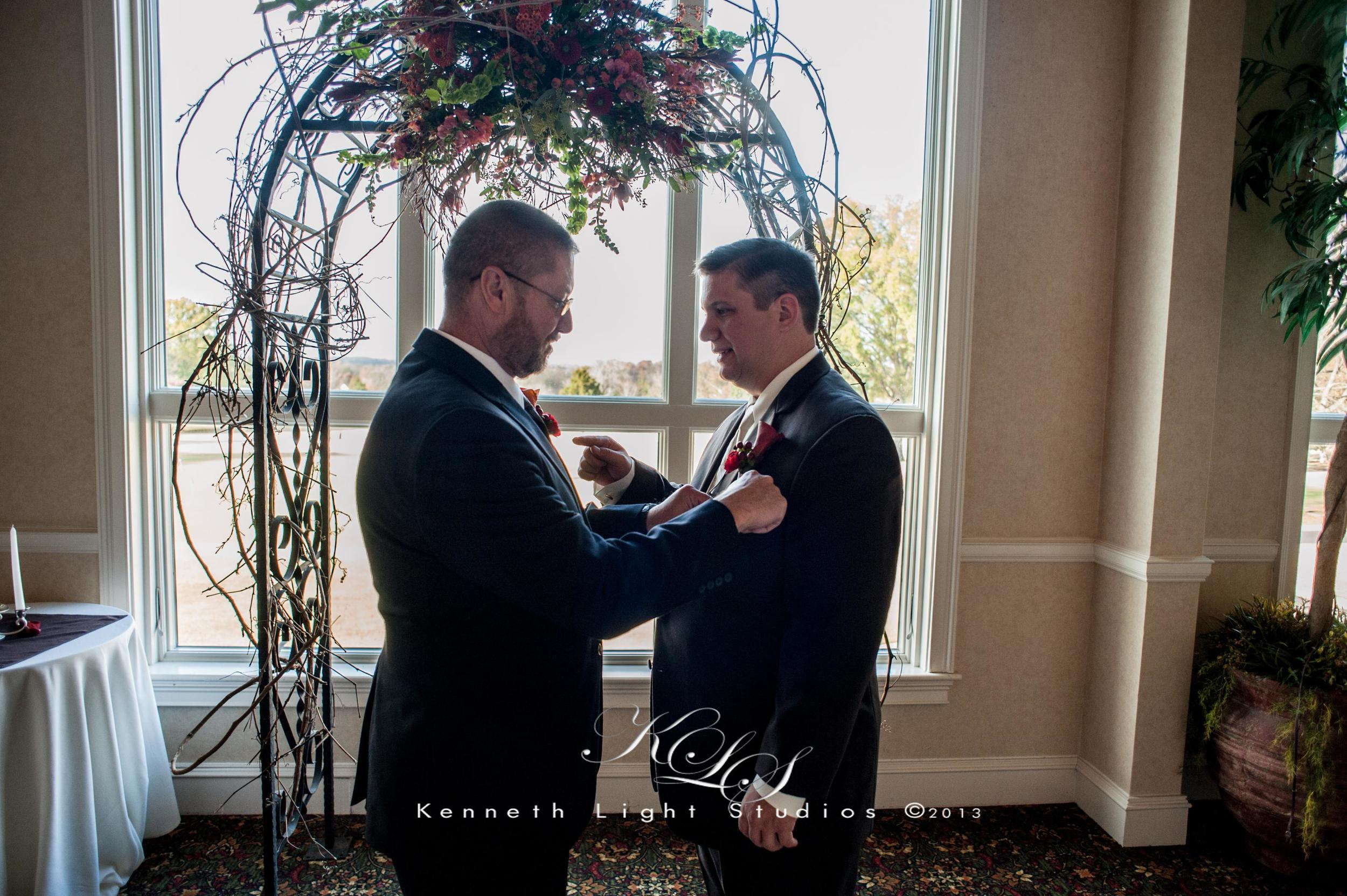 Last minute groom prep time