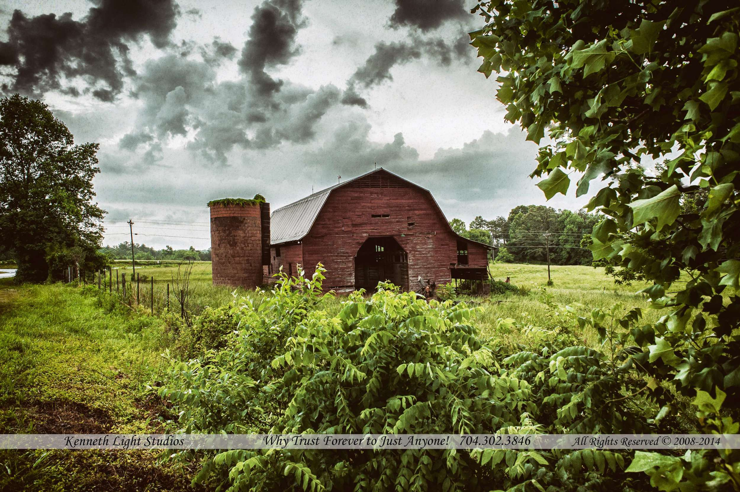 The Barn from another angle, love the clouds on this one