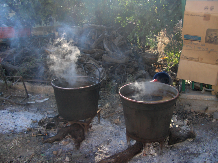 Cucinando sul fuoco  (cooking on the fire)