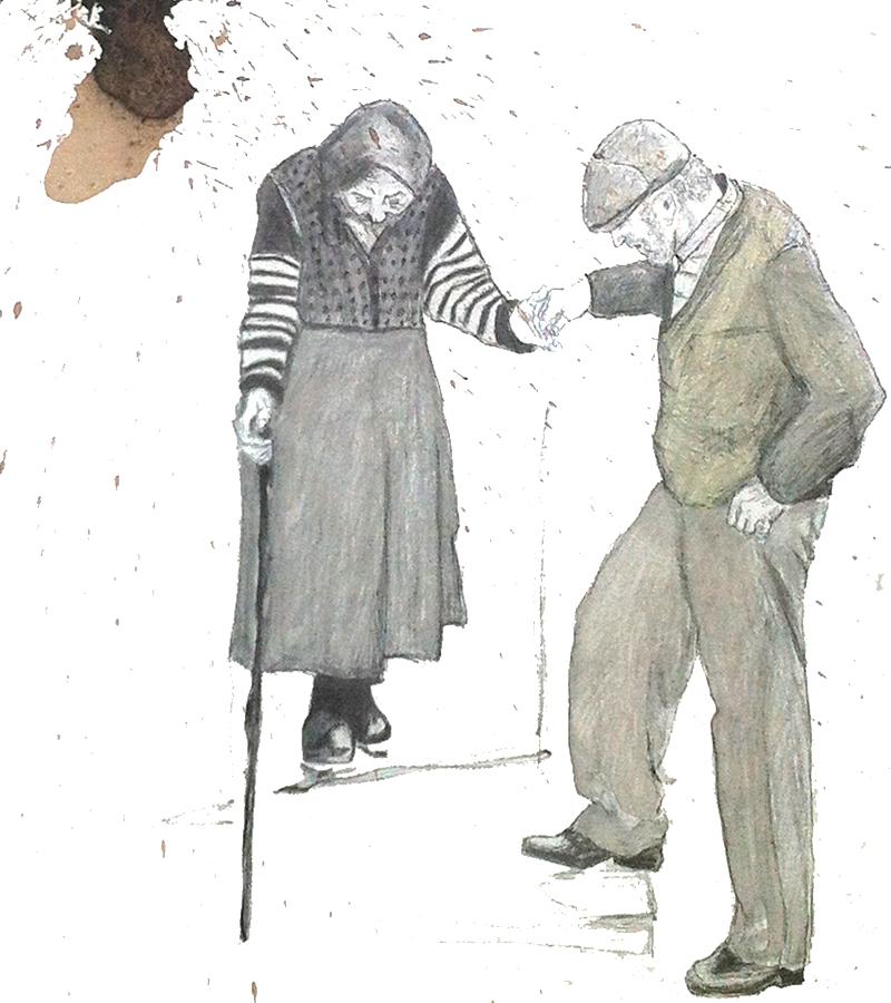 Nonna e Nonno su Canvas, F. Gallé.
