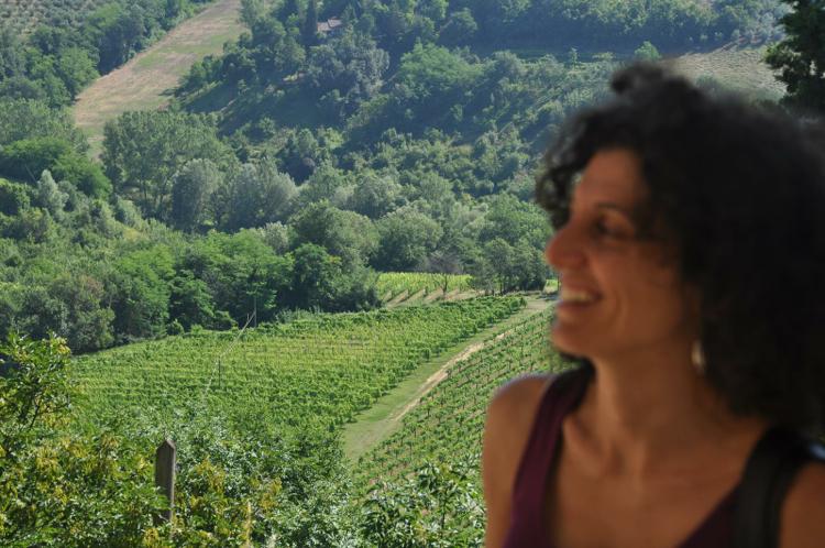 Gaia Massai at her family farm, Fattoria di San Quintino, in the Chianti region of Tuscany.