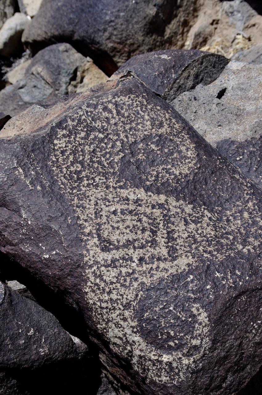 The naturalism of this ram's head is different from the more highly stylized petroglyphs I've seen before.