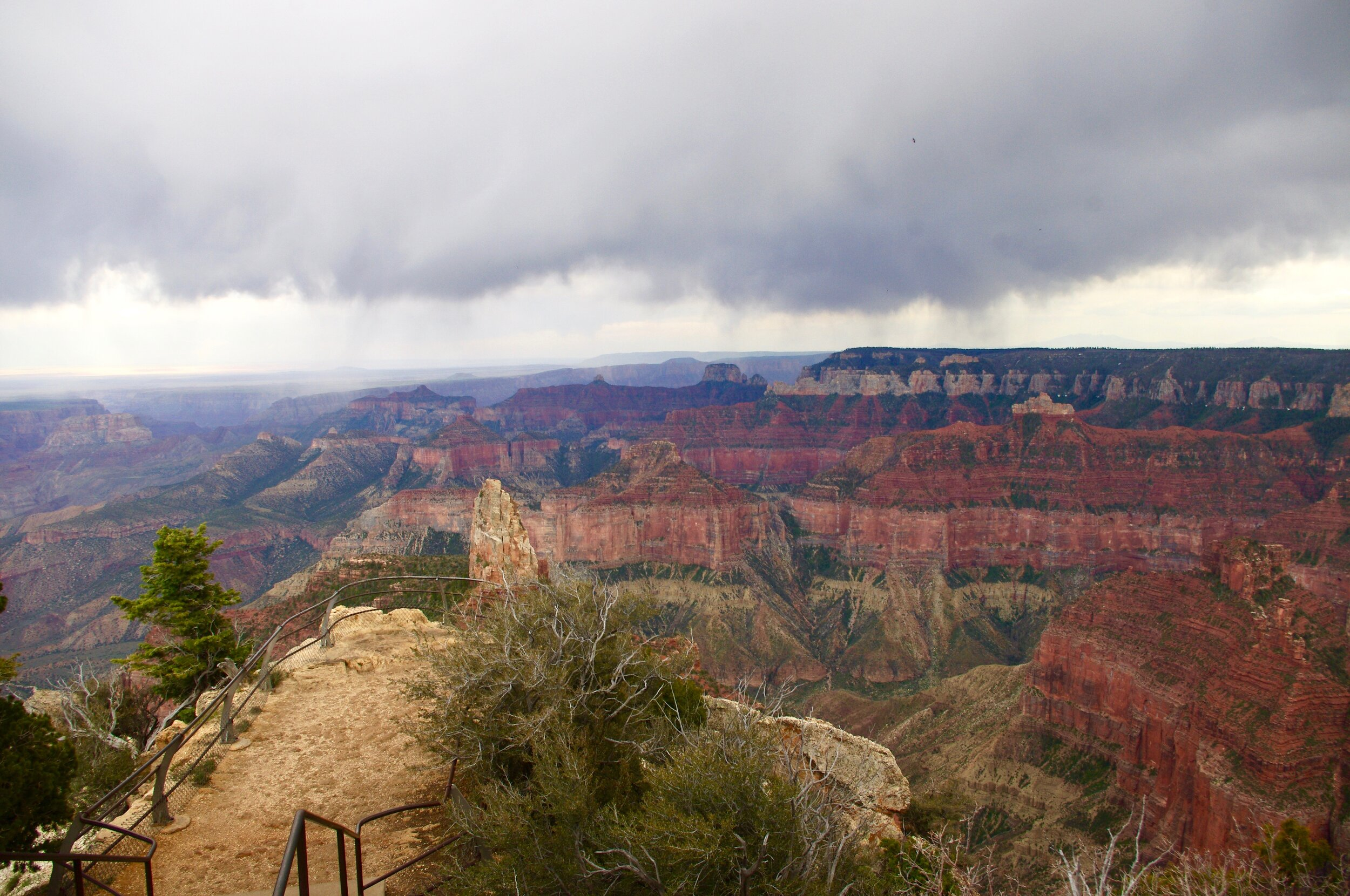 More rain over the canyon
