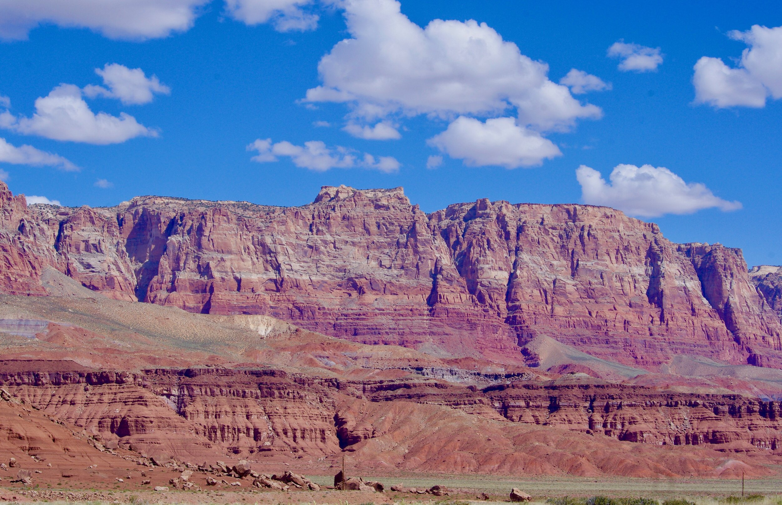 Here are some of the vermillion cliffs looking characteristically vermillion