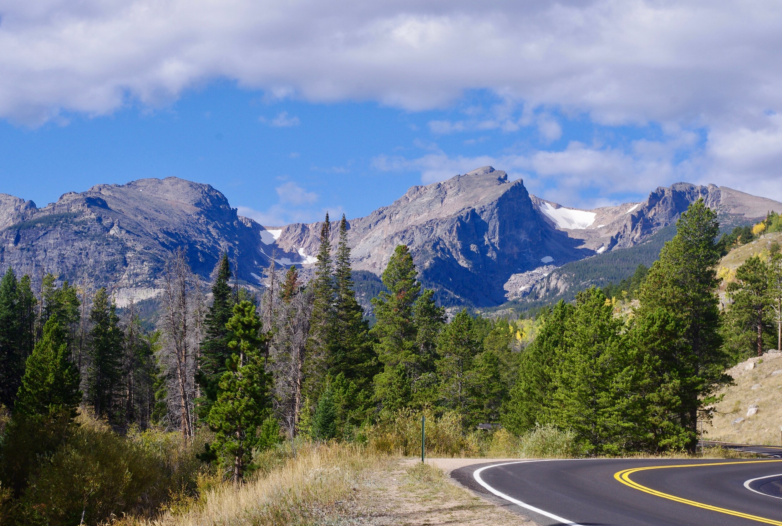 Biking to Bear Lake. The road looks so nice and flat here that you would never imagine how steep it really is.