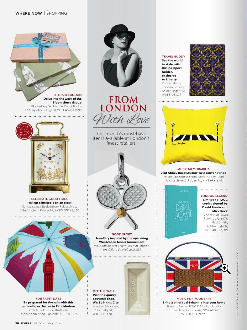 Where London Magazine   - May 2016