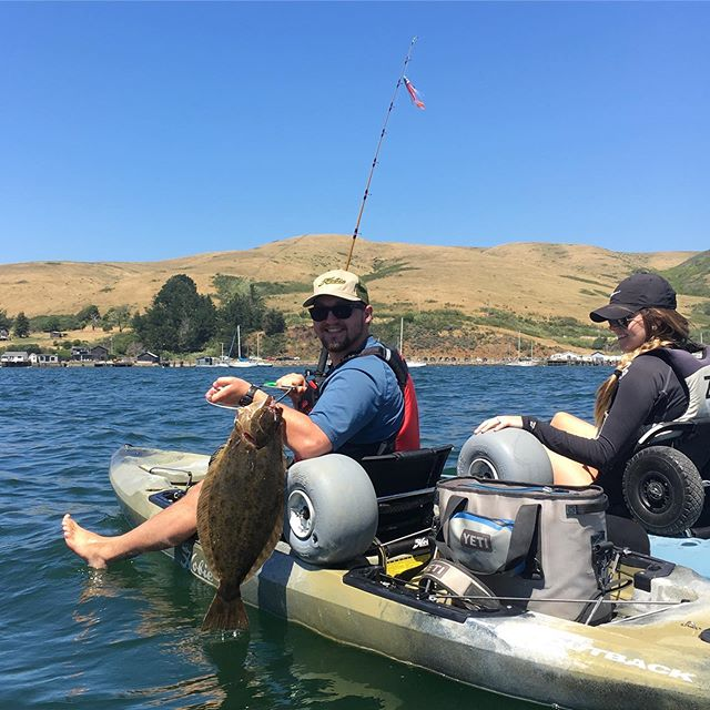 Halibut fishing has been on fire this year. If you have never caught one of these delicious flat fish you should get out there and give it a try. Rick here caught his first ever on a 2019 hobie outback. #hobiekayak #hobiecatcompany #kayakfishing #halibutfishing #hobieoutback #hobieoutback2019 #fishing #hobiefishing
