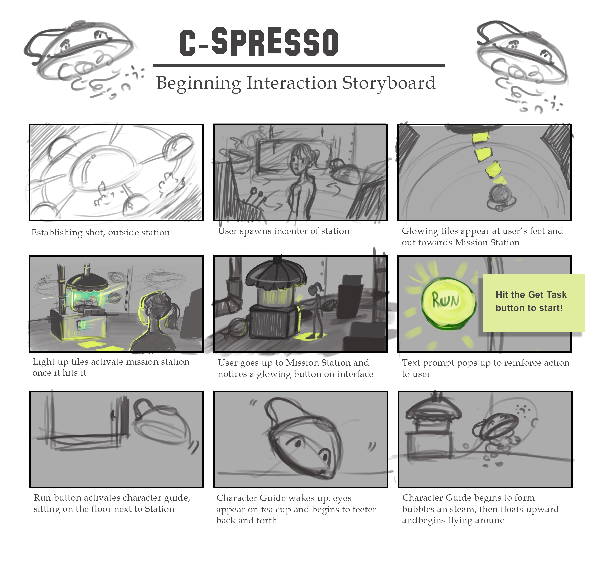 Storyboard by Jessica Ross Nersesian