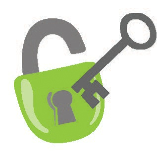 Access - key unlocking a lock, Participation - hands raised, Supports - gears working together