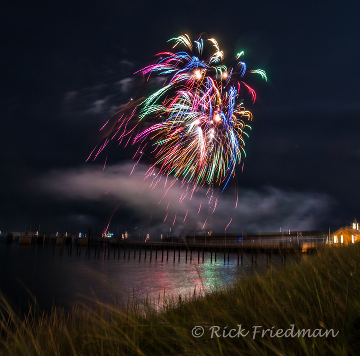 End of the summer firework on the Vineyard