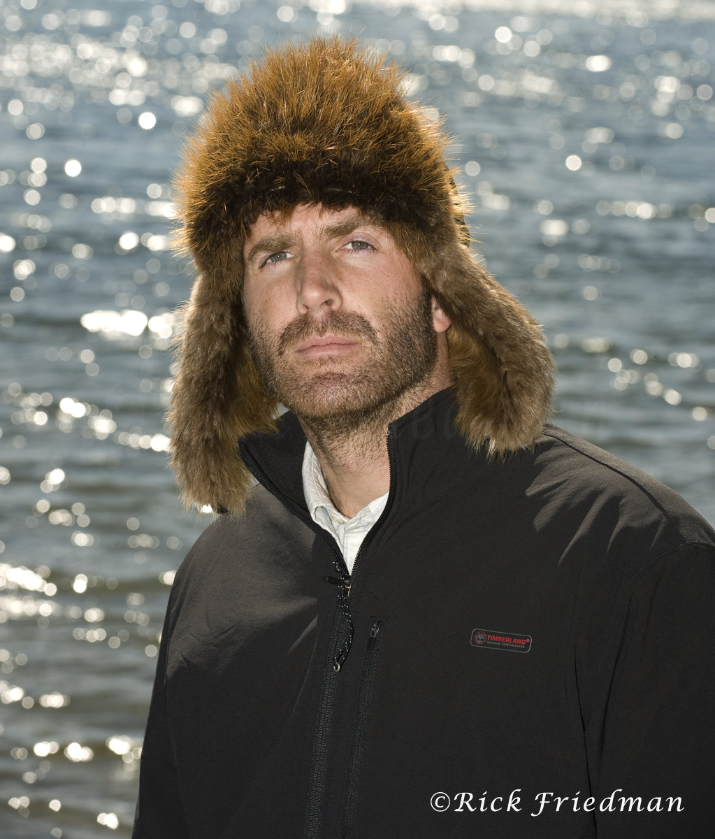 Writer and adventurer Guy Grieve at Walden Pond in Concord, MA, for the Guardian UK.