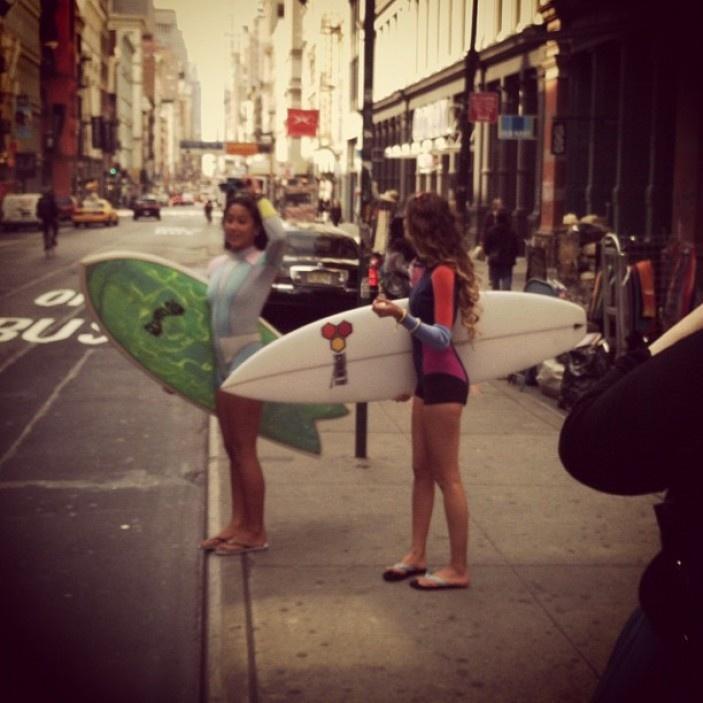 Monyca Bryne-Wickey & Kelia Moniz Surf in the City  #NYC