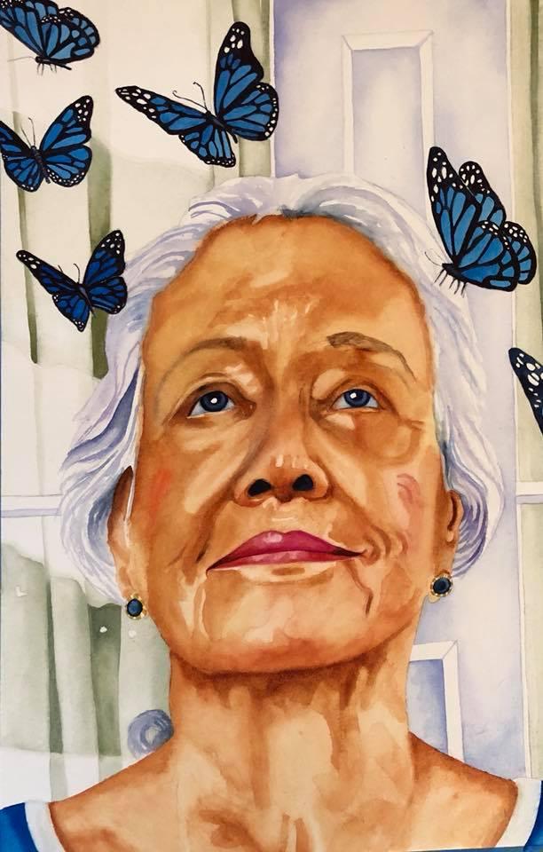 She brings Butterflies