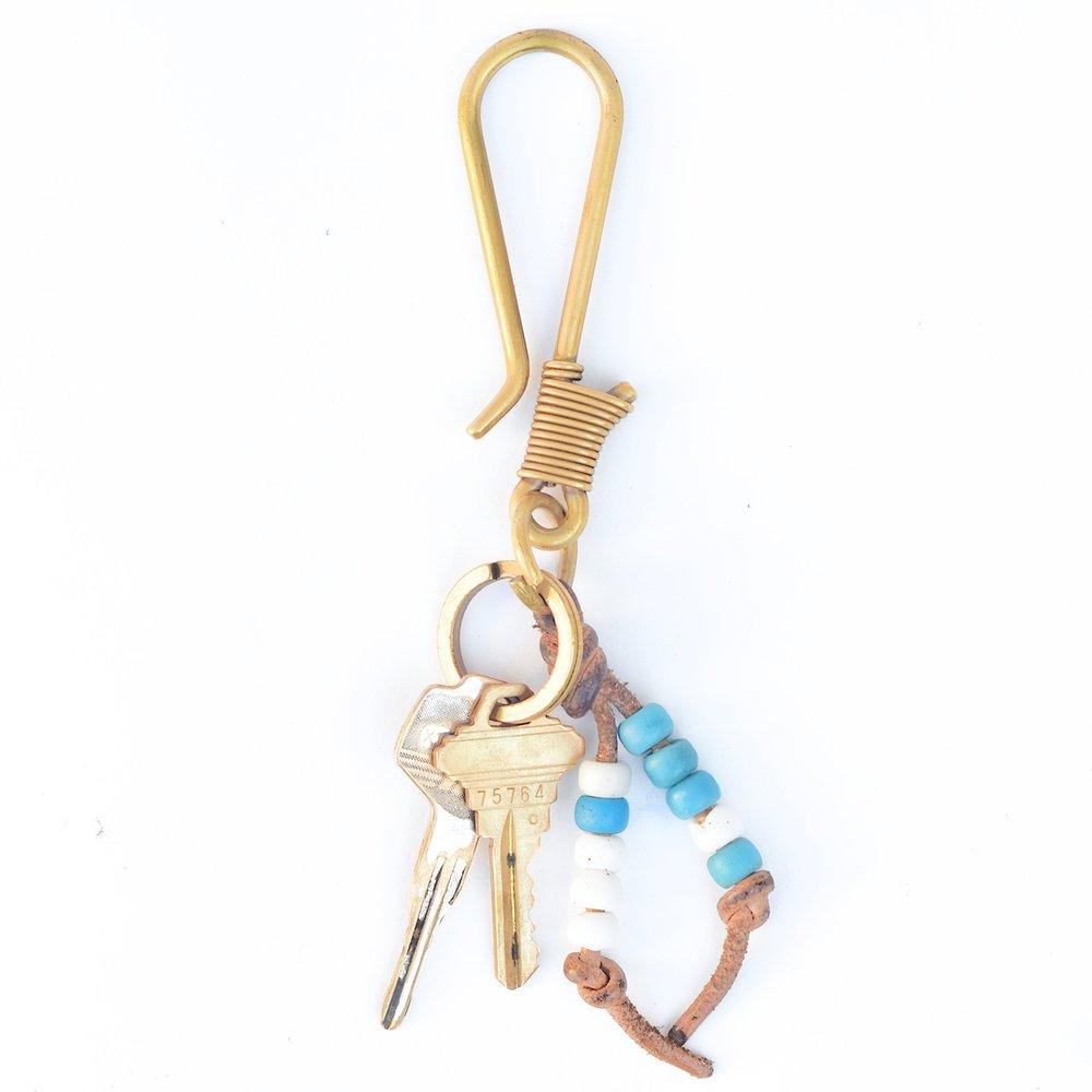 Japanese Carp 925 Sterling SilverKoiSolid Brass Key ChainLeatherBrass Gold Key RingKey-ChainBikerWallet ChainMen/'sWomen/'s gb-k005