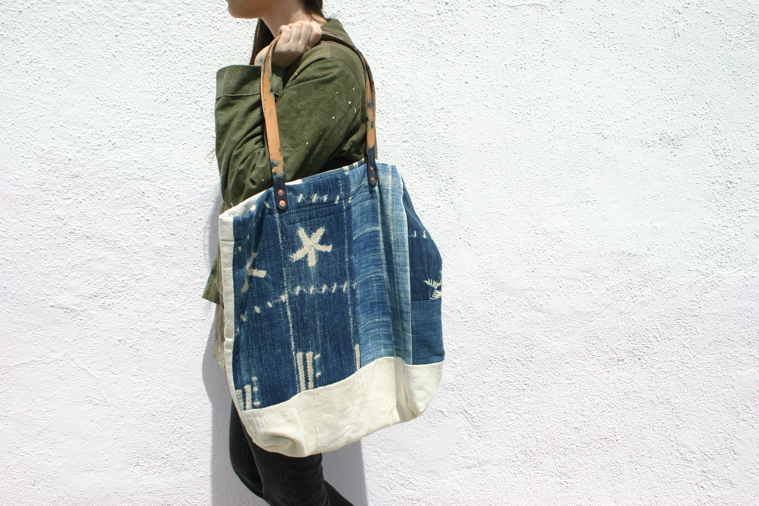 MADE SOLID + COATZ | AFRICAN INDIGO PATCHWORK TOTE | Limited Edition of 65