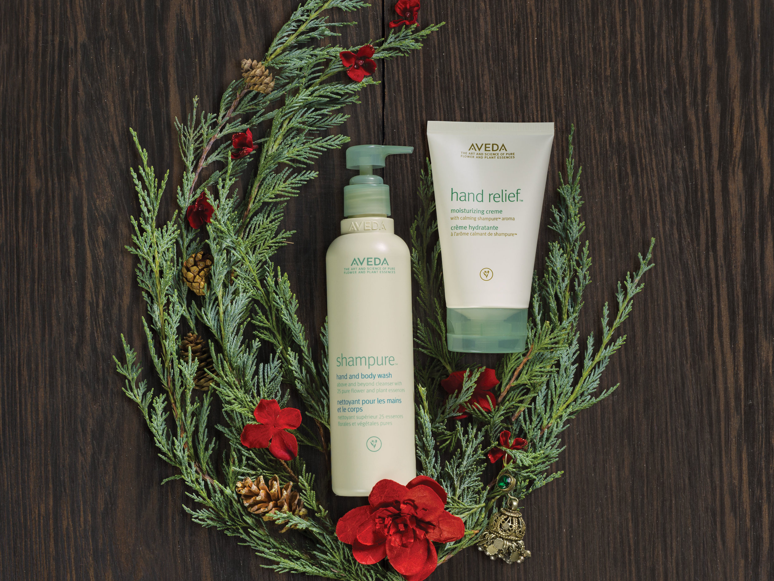 Feeling Calm is a Gift: $45  hand relief™ moisturizing creme with shampure™ aroma,125 ml  shampure™ hand and body wash, 250 m