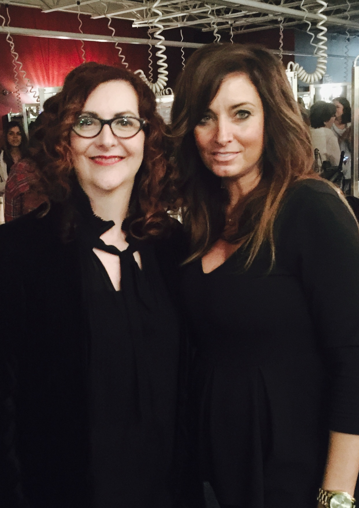 Susan Musolino with Brown Aveda Institute co-founder  Holly Brown