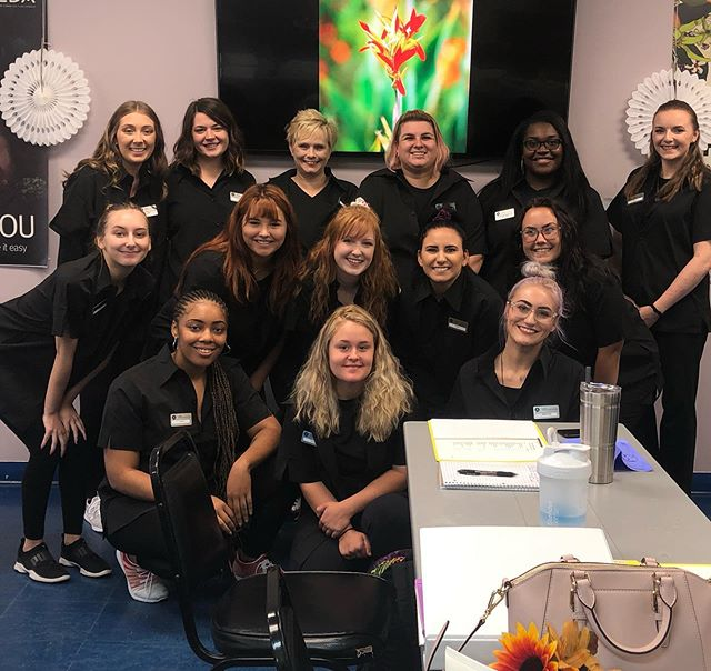 Getting smocks makes us feel like this 🤪🤩 . . #newstudent #avedastudent #manicuring #esthetics #cosmetology #lovewhatyoudo #casalaveda #creatyourlife #avedastylist #avedaspa #smellslikeaveda #squad