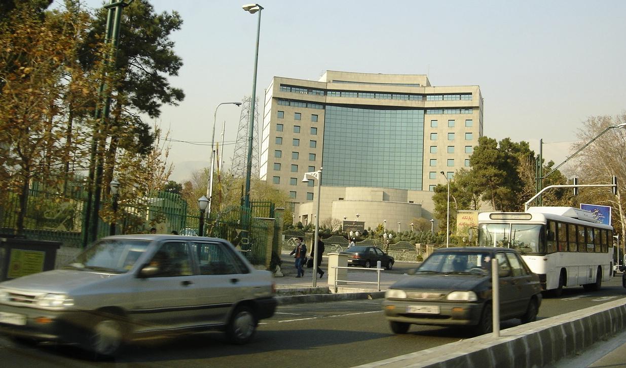 IRIB's northeast gate along  Valiasr Ave  . (Source: Wikipedia)