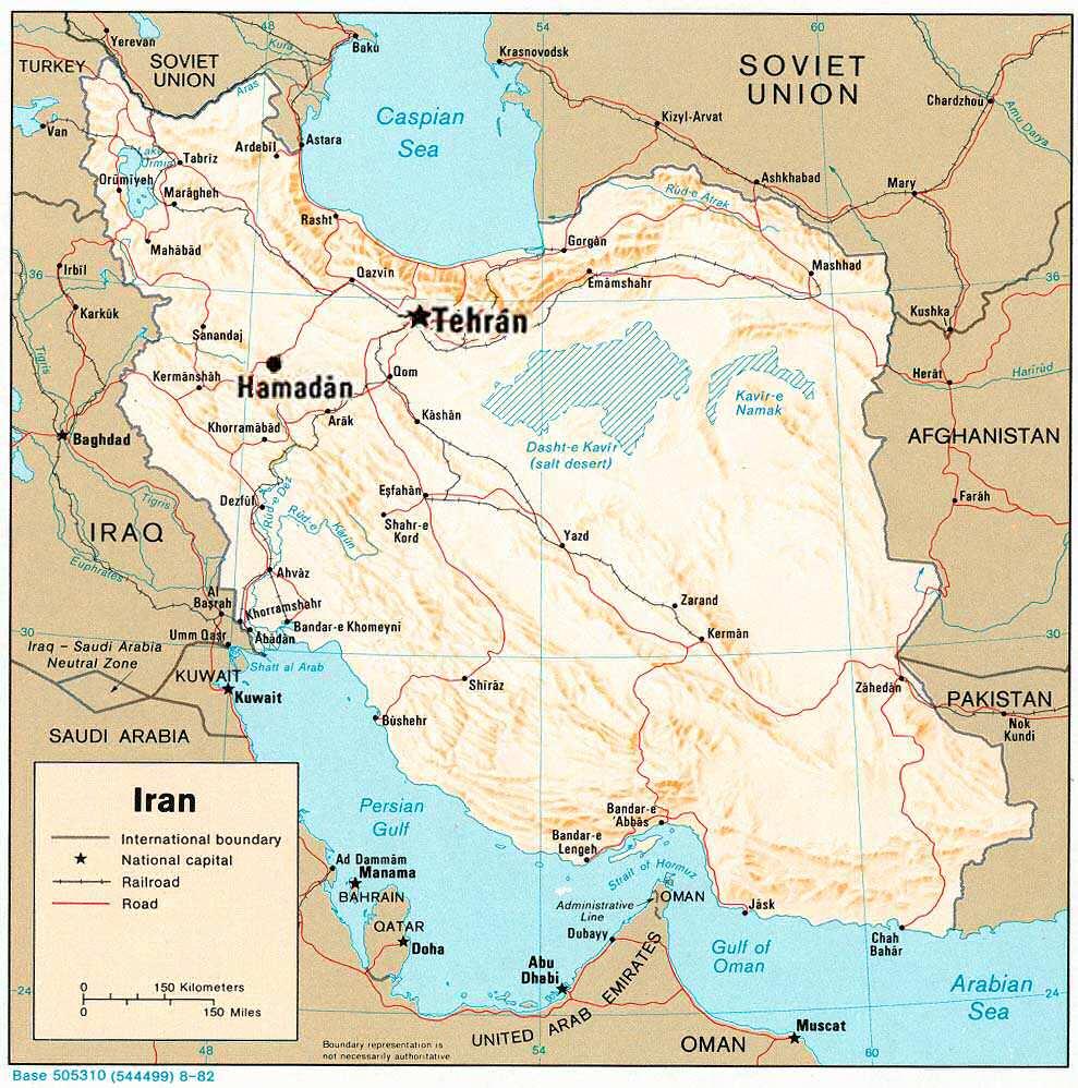 Map of Iran, circa 1982. (Source: CIA)