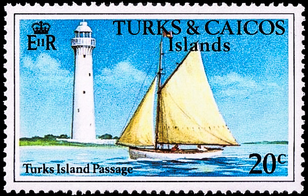Grand Turk Lighthouse, Scott 339, 2 Feb 1978 (Source:  http://lighthousestampsociety.org )