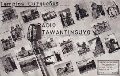 Old QSL from Radio Tawantinsuyo, Cuzco, Peru