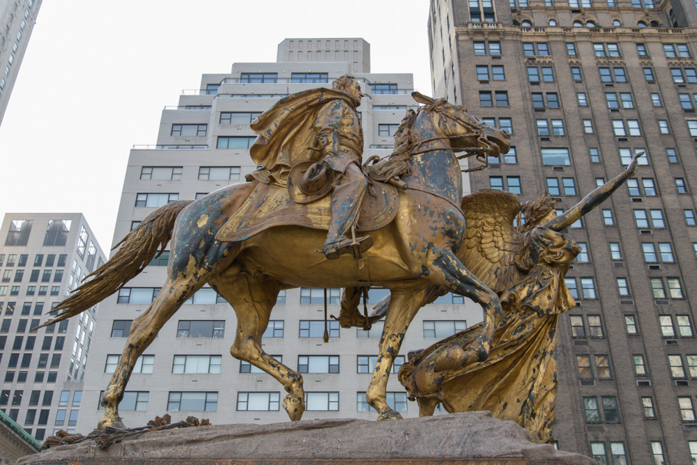 General William Tecumseh Sherman by American sculptor and New York City resident Augustus Saint-Gaudens