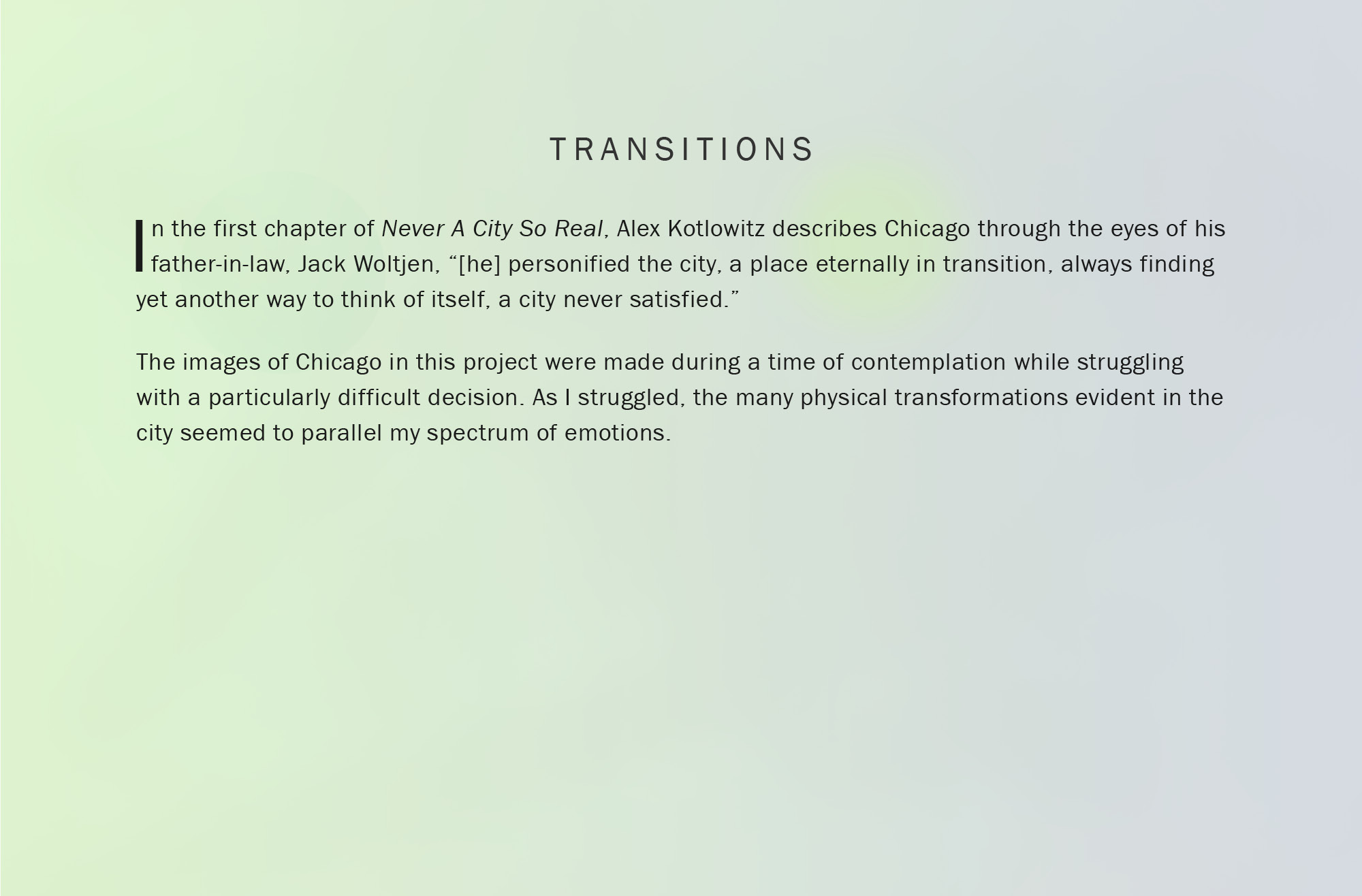 Statement for Transitions