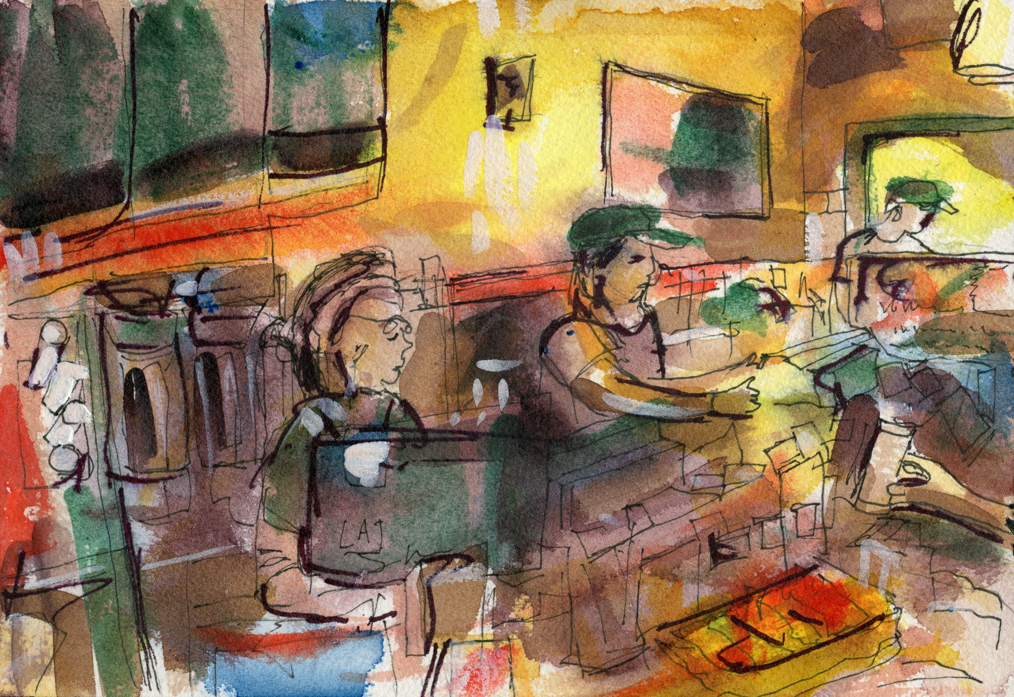 Coffee Shop Scene No. 2 (Morning at Peet's in the Wrigley Building)