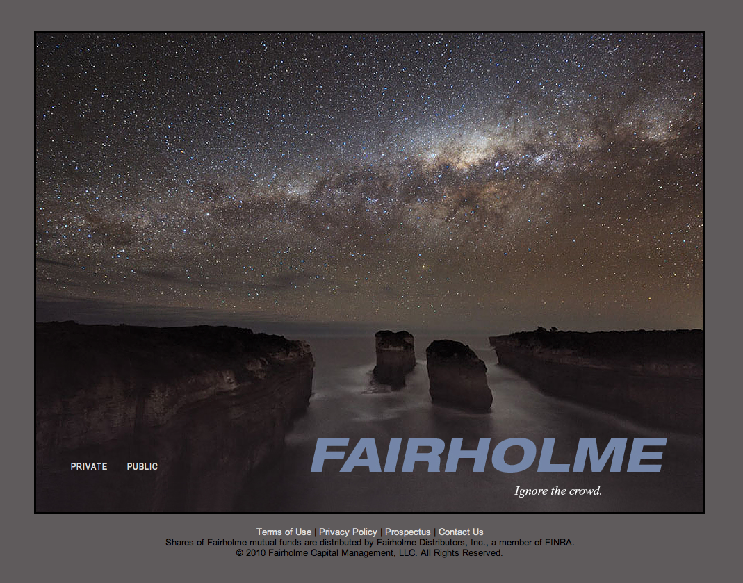 Fairholme Funds website homepage