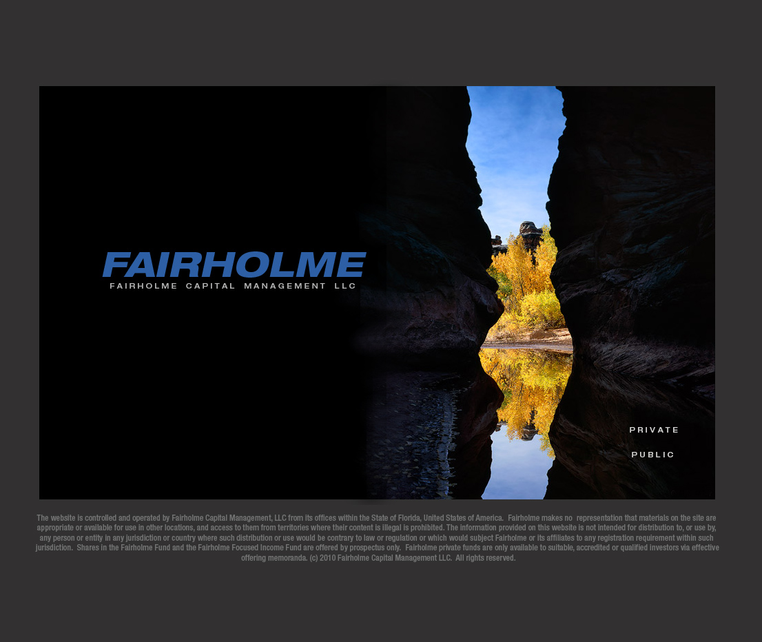 Fairholme.net website homepage