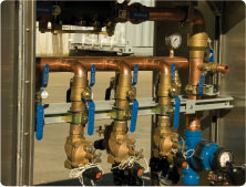 Copper and brass manifold