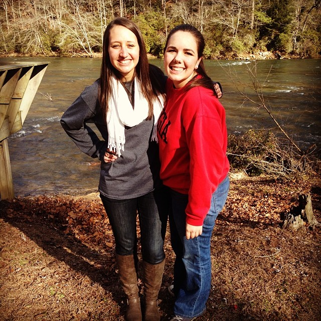 Me and Elizabeth Vice (aka my best friend) at my first Winter Retreat in 2014...