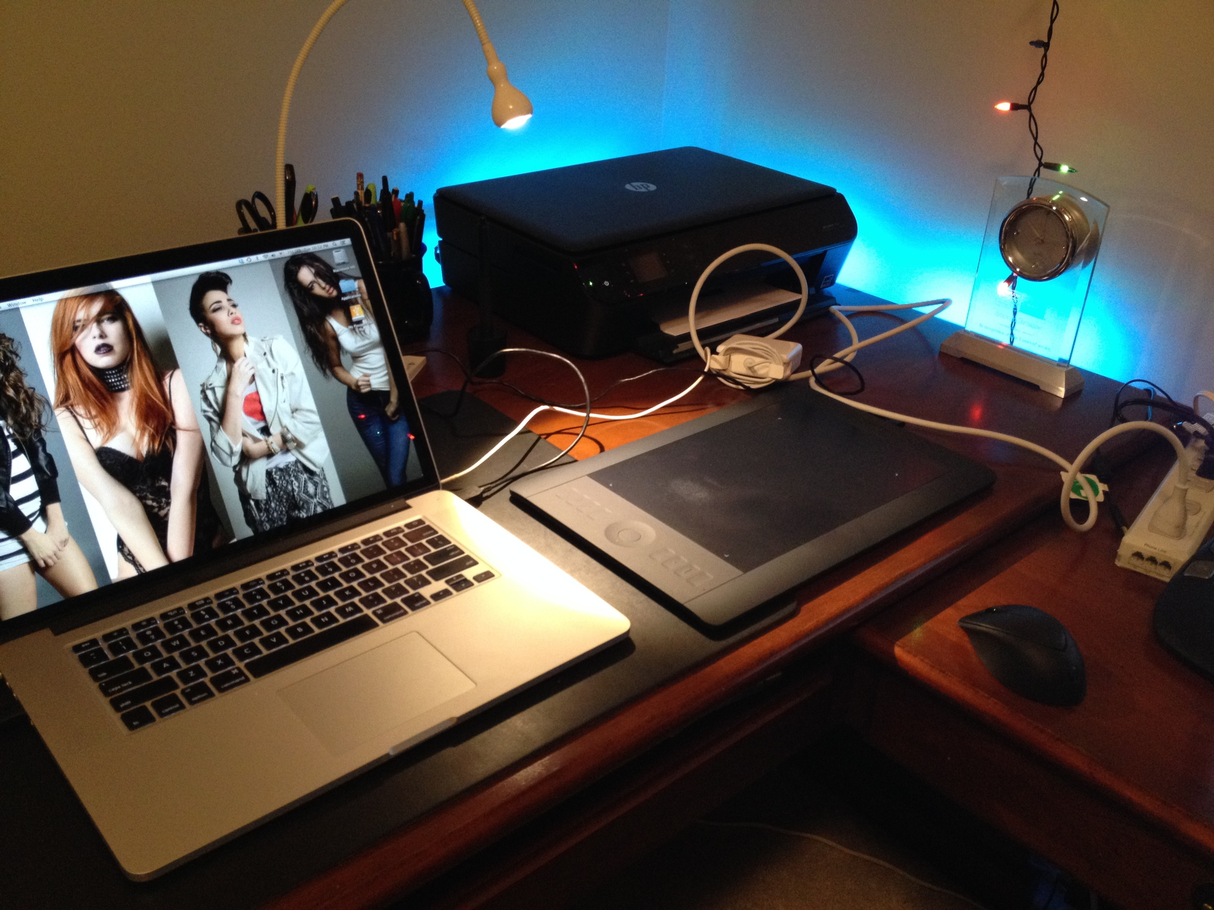 My Intuos 5 Touch in action