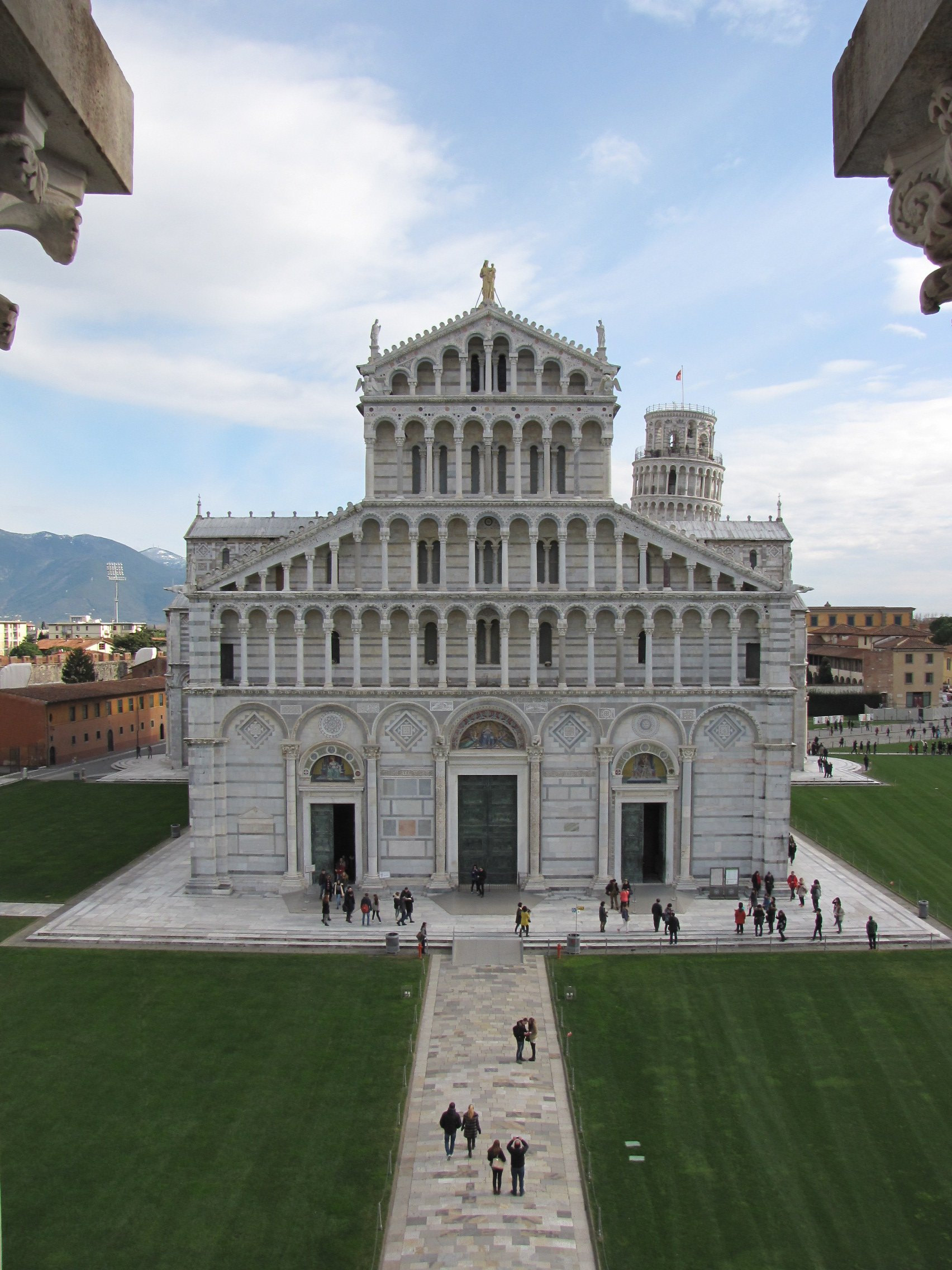 View of the cathedralfrom the top of the baptistry.