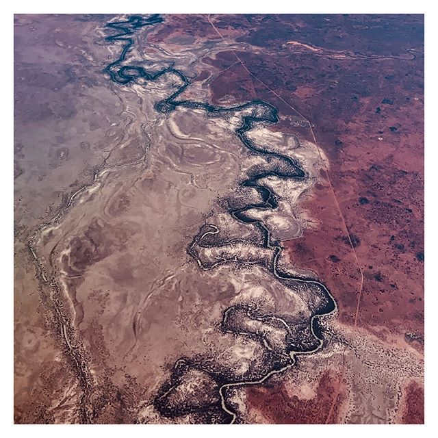 Flight path over the NSW Outback ✈️ . . . #visitnsw #nswoutback #thebigdry #outback #subjectivelyobjective #seeaustralia #river #australia #travelnsw #natgeotravel #nature #landscape