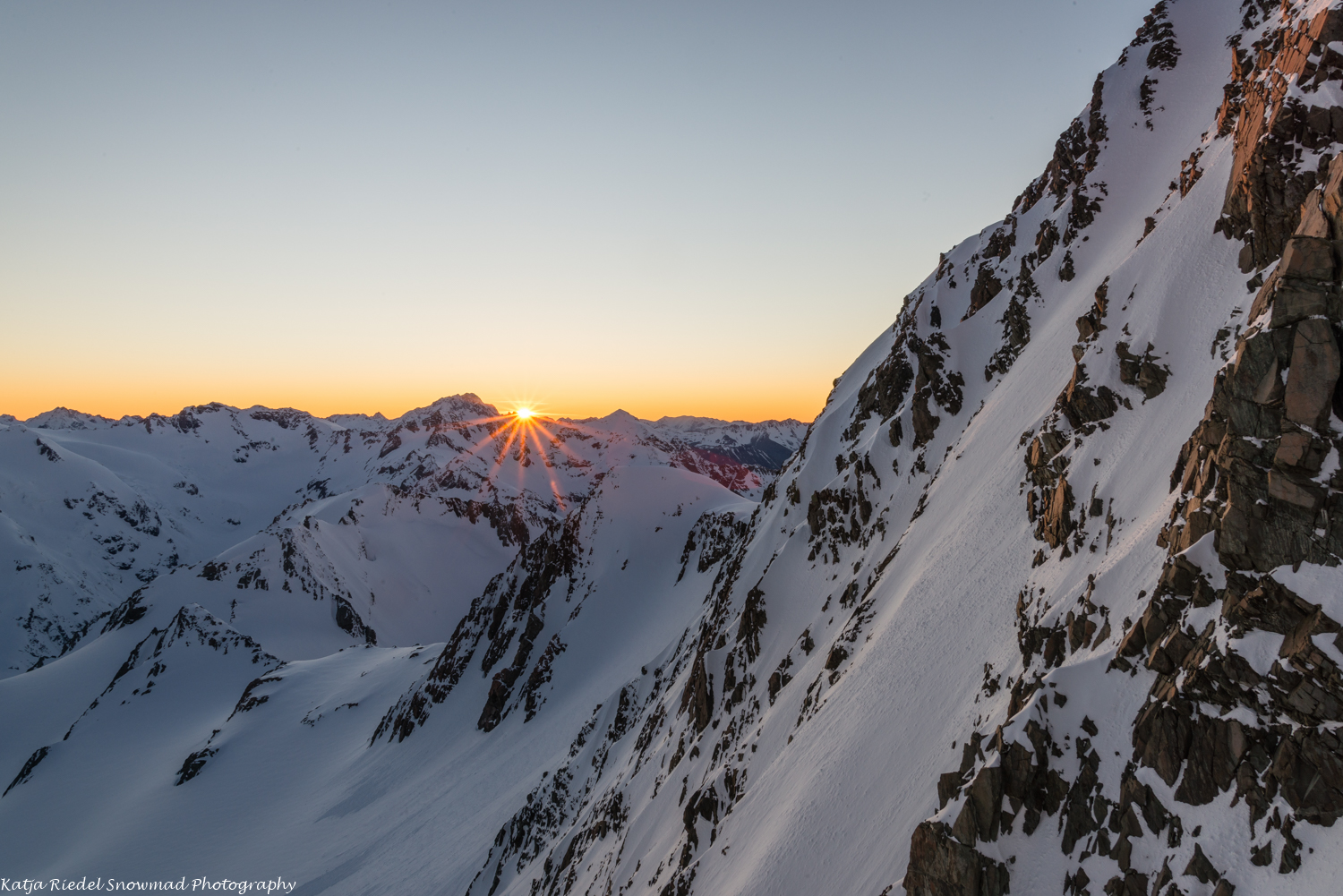 Sunrise from Kelman Hut
