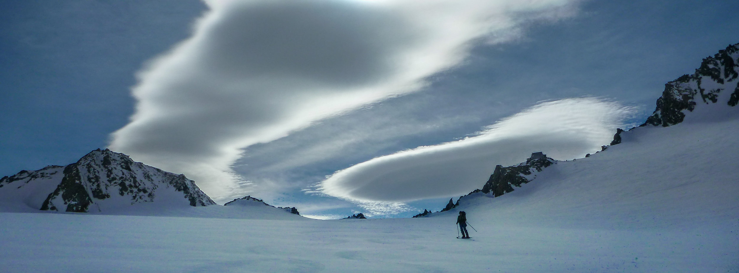 Lenticular Clouds over Tasman Glacier