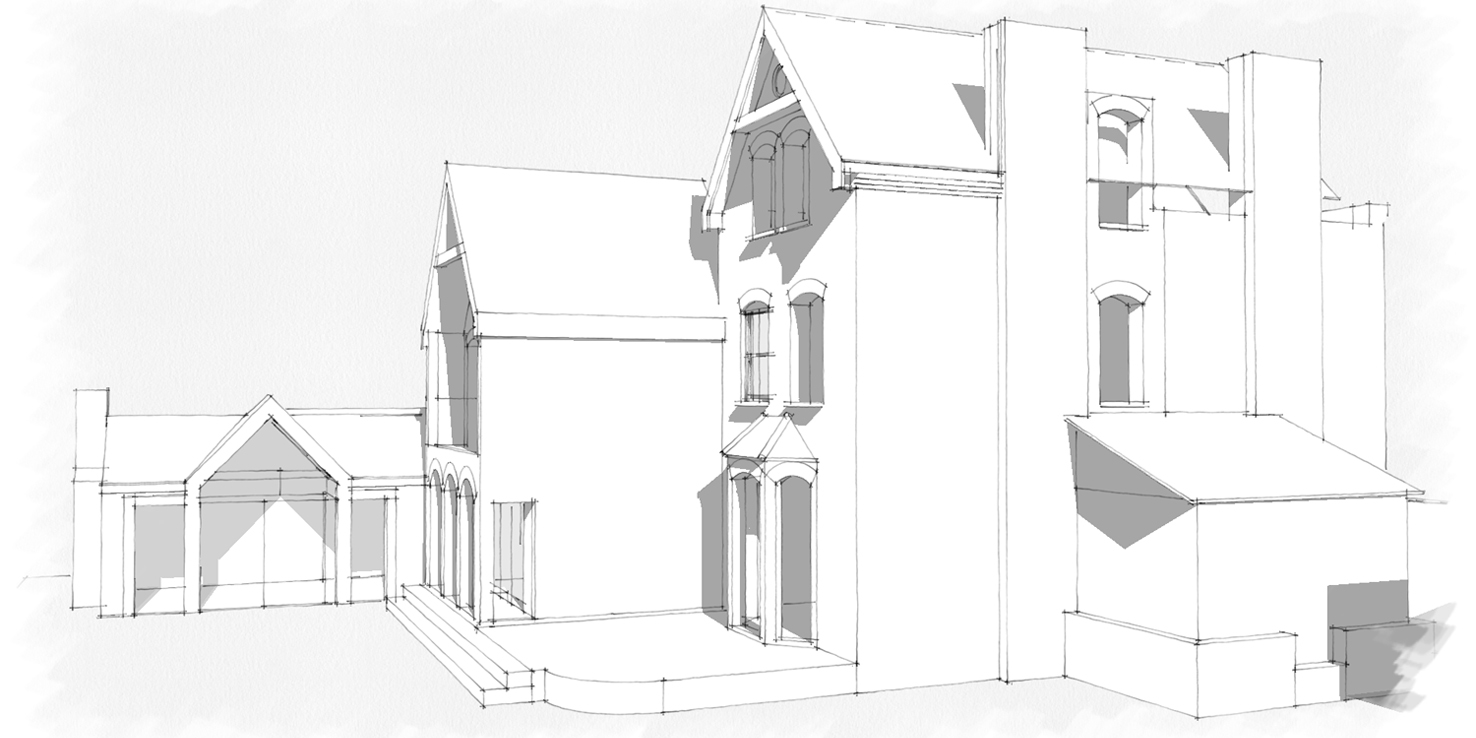 rear side single elevation
