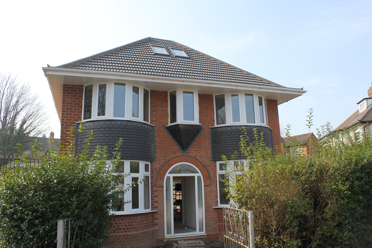 1930's detached house - side two storey extension