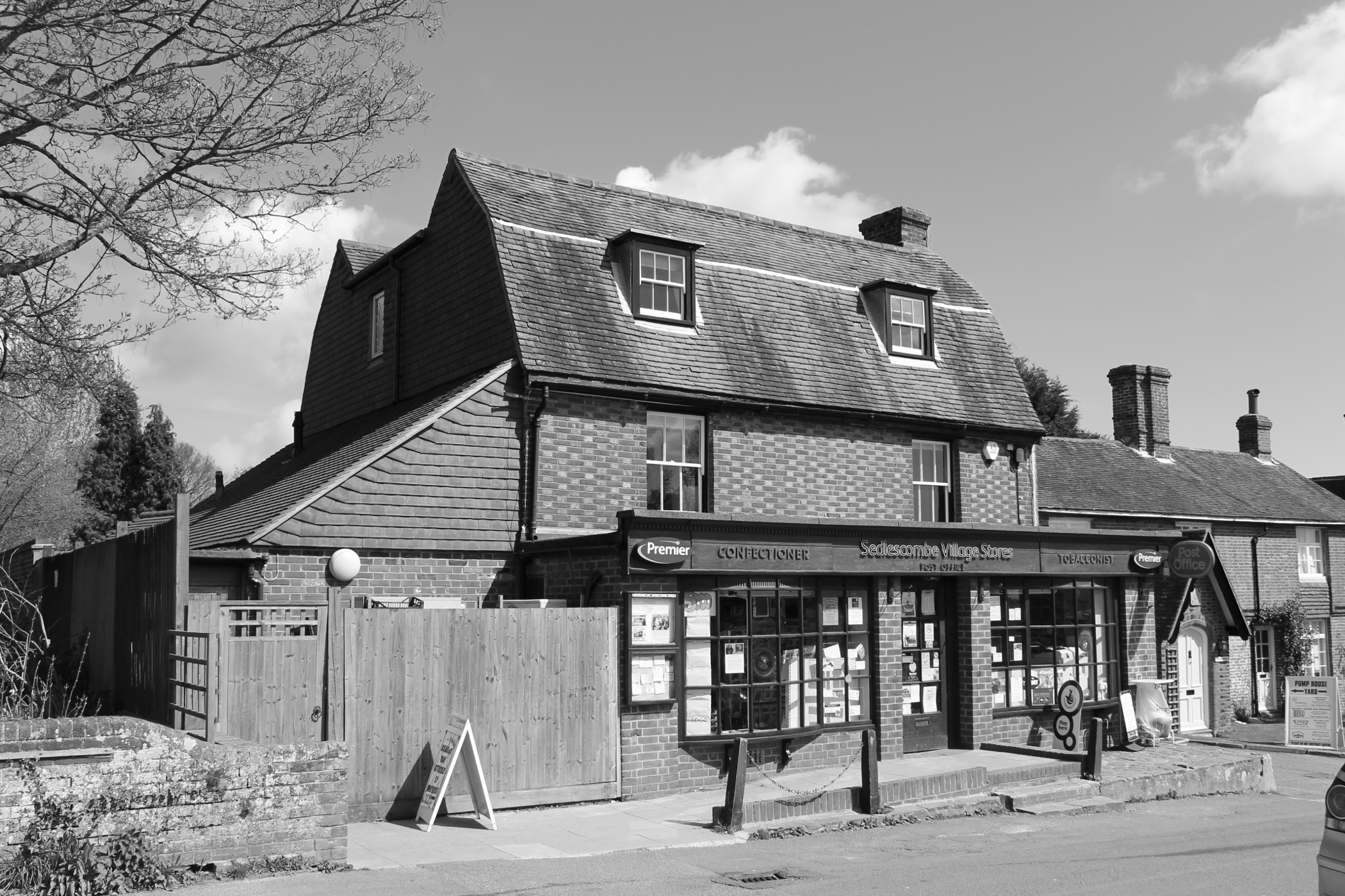 grade II post office extension with rear house extension