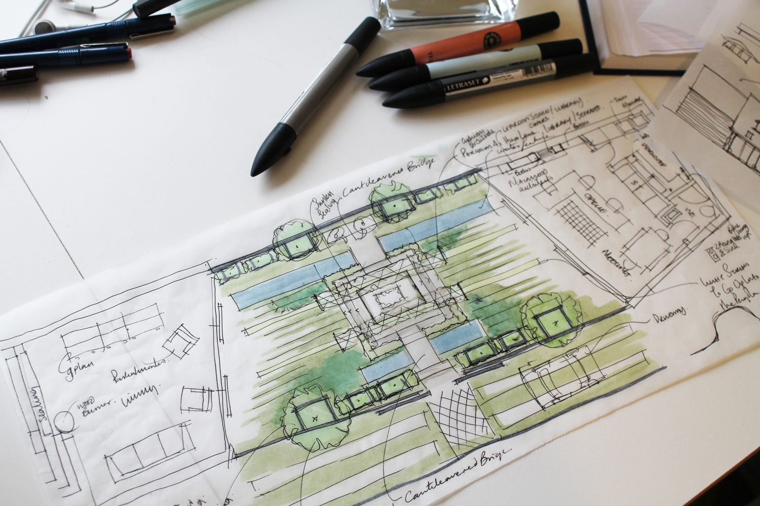 plan garden design with proposed house alterations