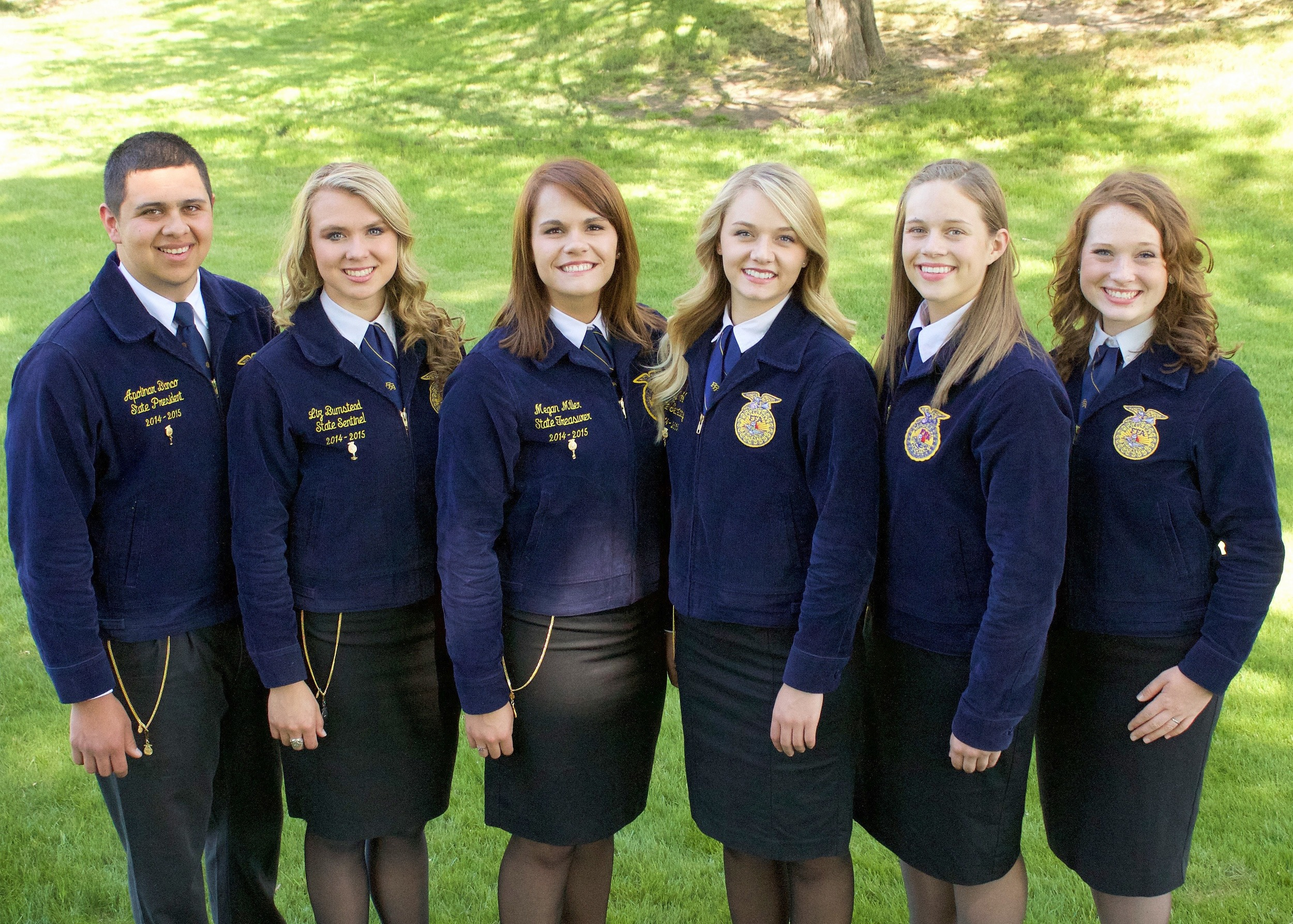From left to right: President Apolinar Blanco, Sentinel Liz Bumstead, Treasurer Megan Miller, Secretary Maya Wahl, Vice President Rebecca Foote, Reporter Sam Brown