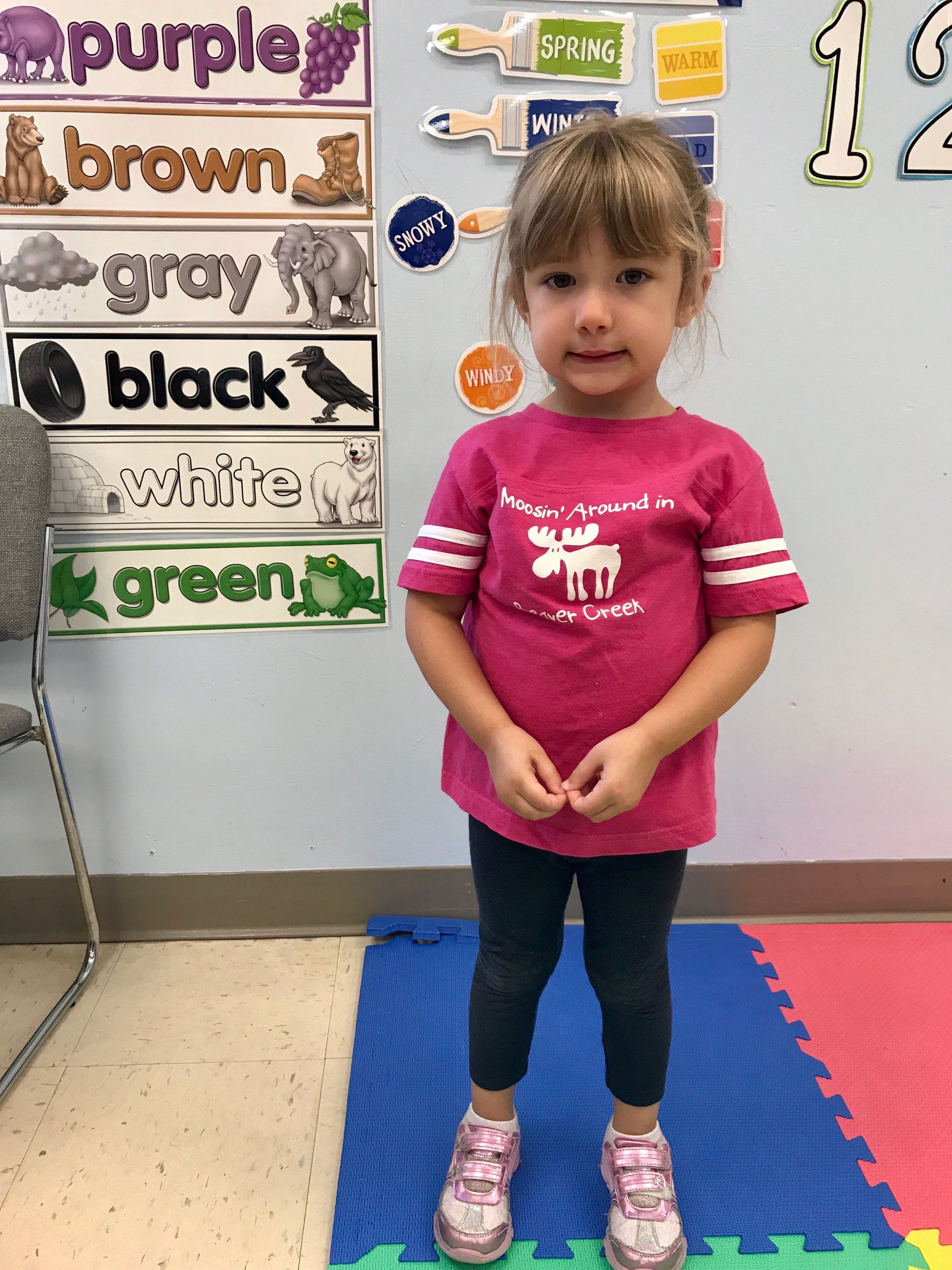 Bailey can read the color words!