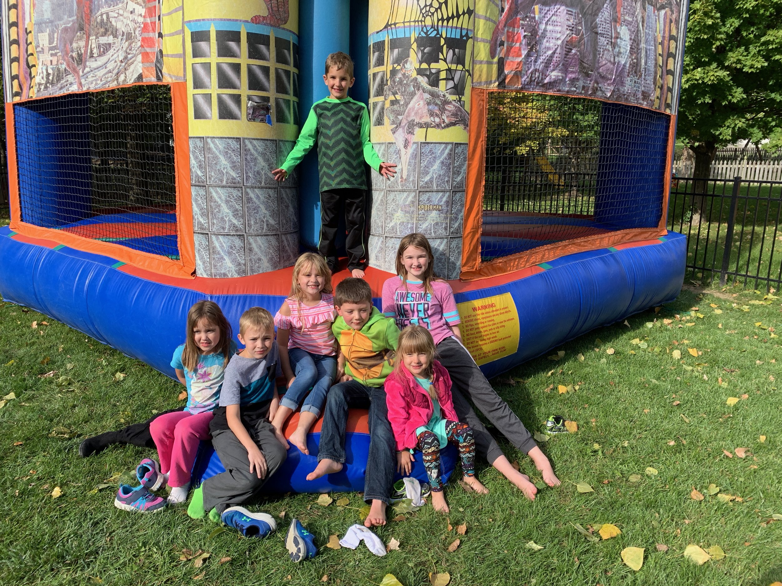 Dylan's friends enjoyed the Bounce House!