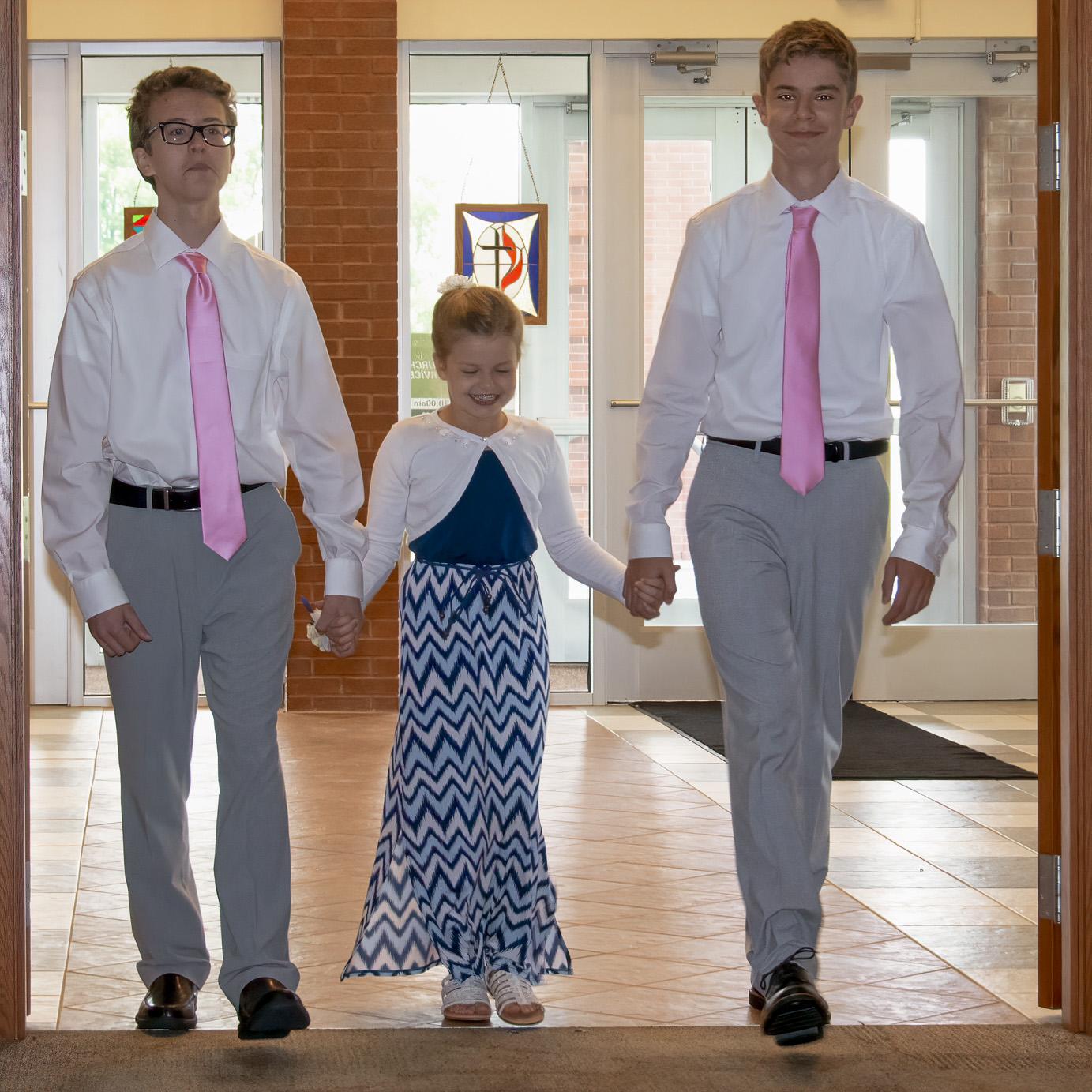 Evan, Katie, and Conner