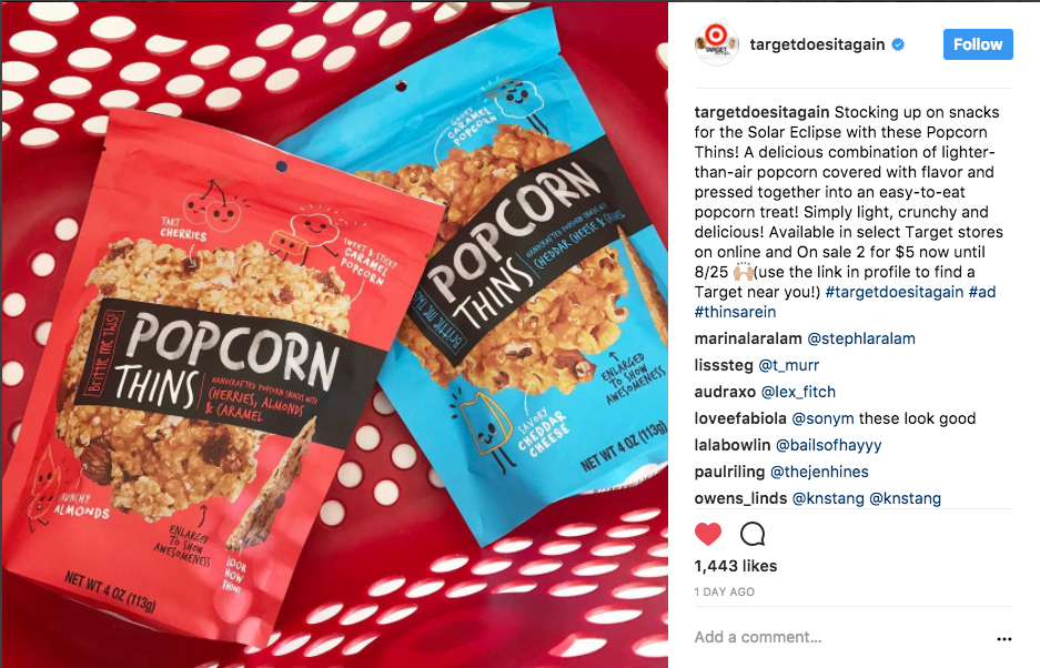 PopCorn Things available in Target's nationwide