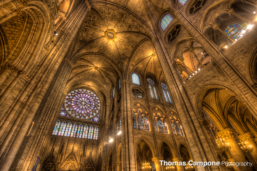 Notre Dame Cathedral  1/30 Sec - f4.0 - ISO 3200 - 16mm (HDR)